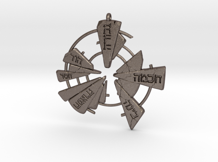 Kabbalistic Amulet 01 - 60mm 3d printed