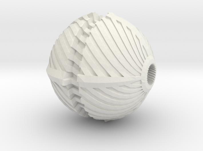 Spiral Bead 3d printed