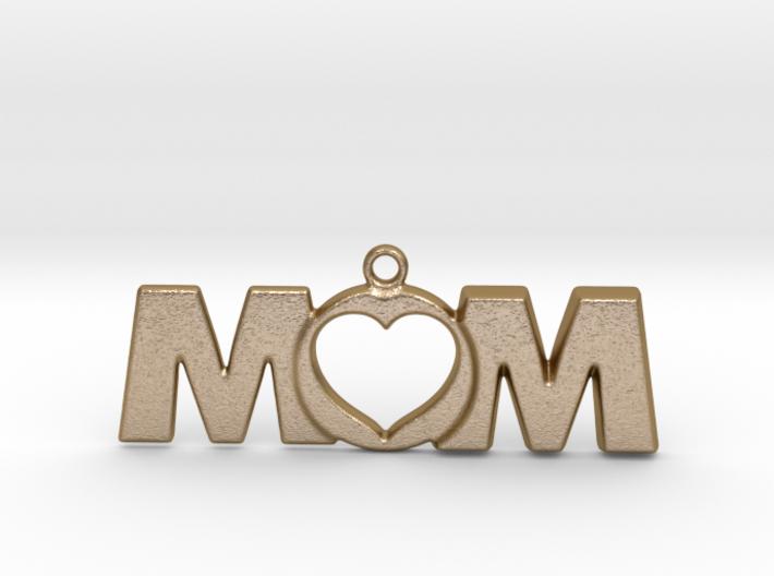 Love Mom Pendant 3d printed