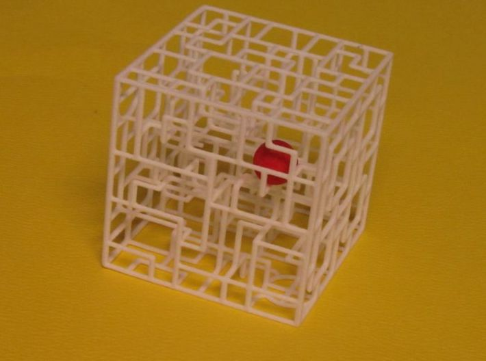 Snaking Stairways - Maze & Mathematical Sculpture 3d printed See my Youtube videos for How To Color the Maze Ball