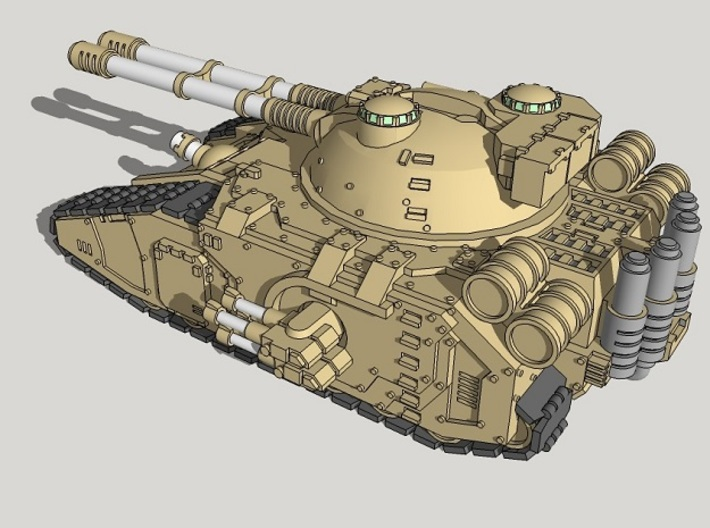 6mm Claymore Superheavy Sci-Fi Tank 3d printed
