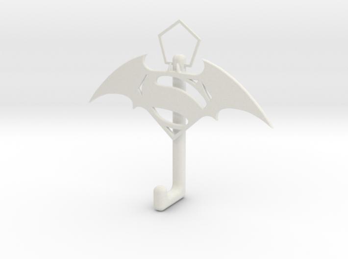 Superman And Batman Logo hook 3d printed
