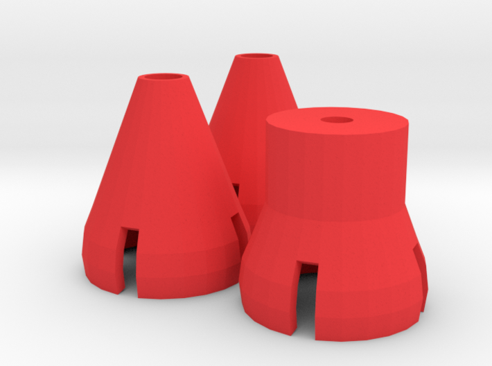 Gorilla Hands - Cones and Post 3d printed