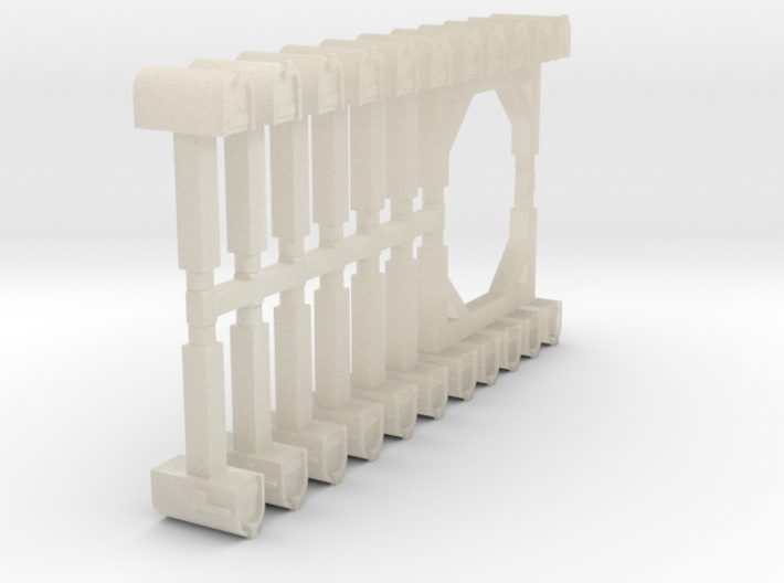 15mm Mailboxes (14 pcs) 3d printed