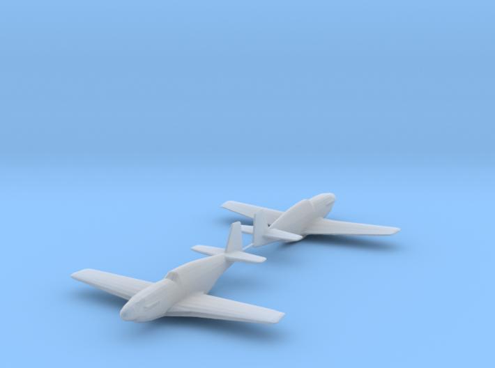 North American P-51B 'Mustang' 1/200 x2 HDA 3d printed