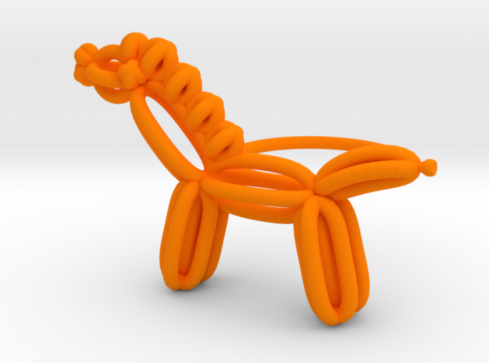 Balloon Horse Ring size 1 3d printed
