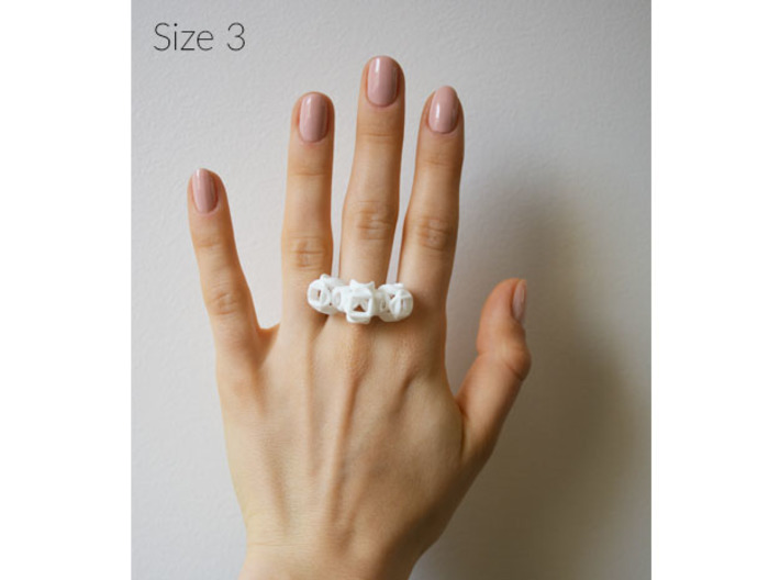 Trio Rose Ring size 3 3d printed