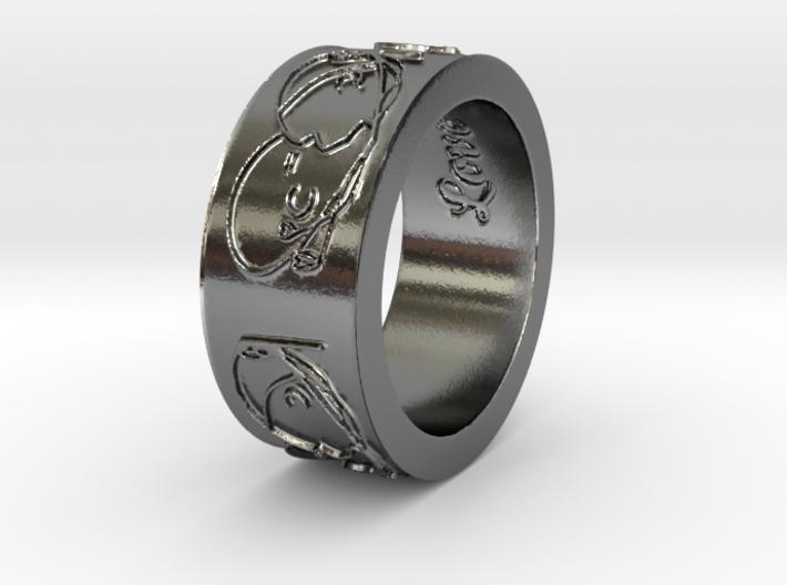 'Beautiful Love' Ring 3d printed