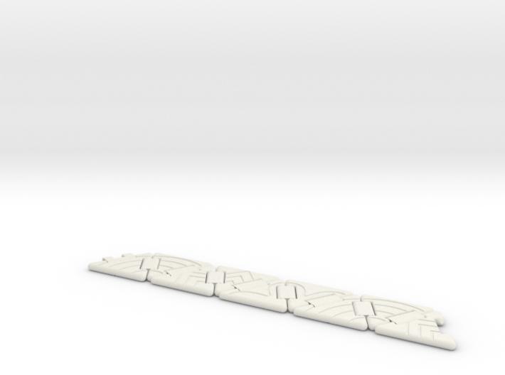Tri-Hexaflexagon (line patterns) 3d printed