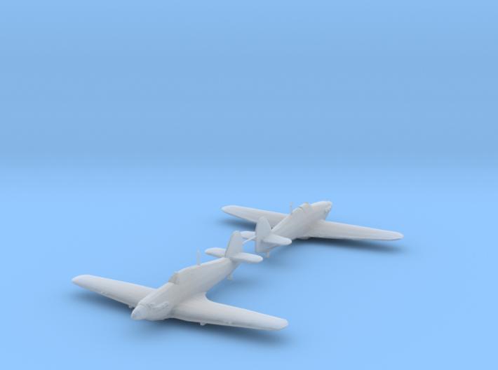 Hawker Hurricane Mk.IIb 1/200 x2 HDA 3d printed