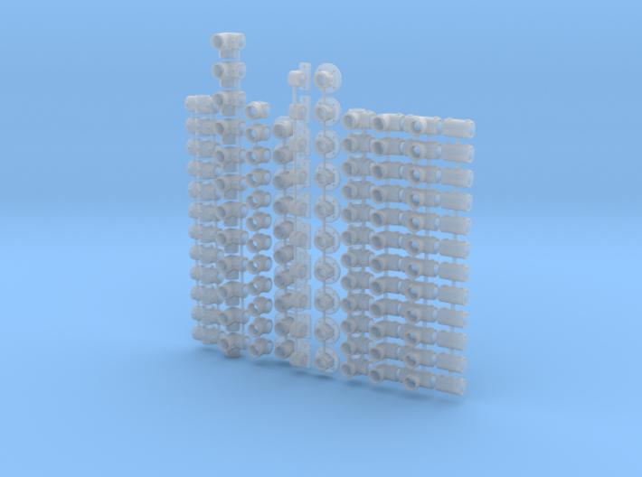 1/24 RAILING FITTINGS 3d printed