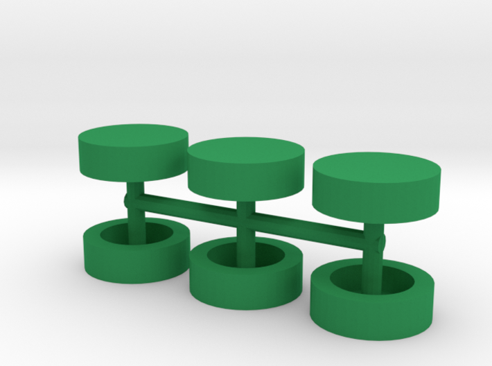 Half-inch Disc Boardgame Counters (x6) 3d printed