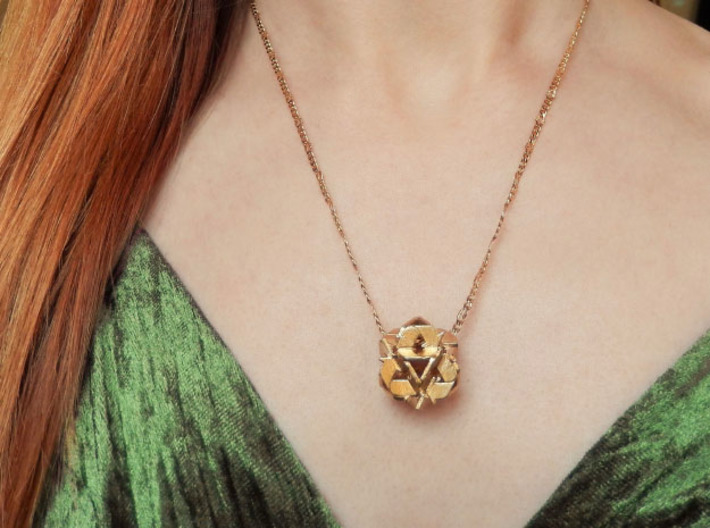 Recycling Pendant (21mm) 3d printed