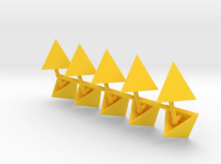 Tetrahedron Capstones (x10) 3d printed