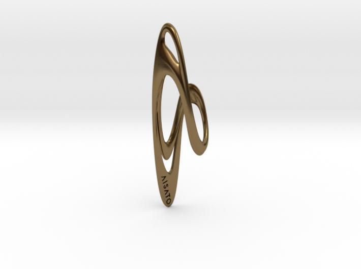 Loop Earring or Pendant top  3d printed