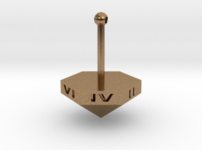 Teetotum - Six sided die spinning top 3d printed
