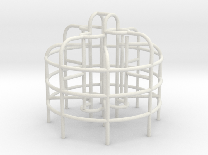 Playground Monkey Bars - HO 87:1 Scale 3d printed