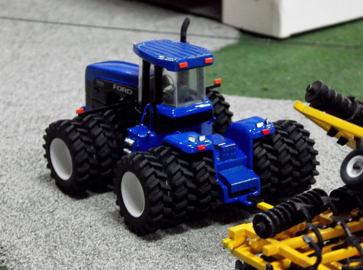 1/64 New Holland / Ford 9880 Detail Kit 3d printed A completed tractor utilizing the detail kit