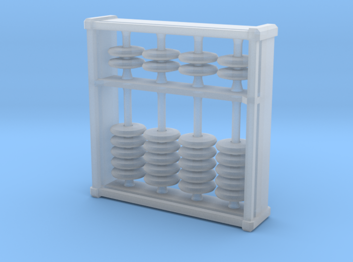 Pocket Abacus (4 digits, 3.2cm) 3d printed