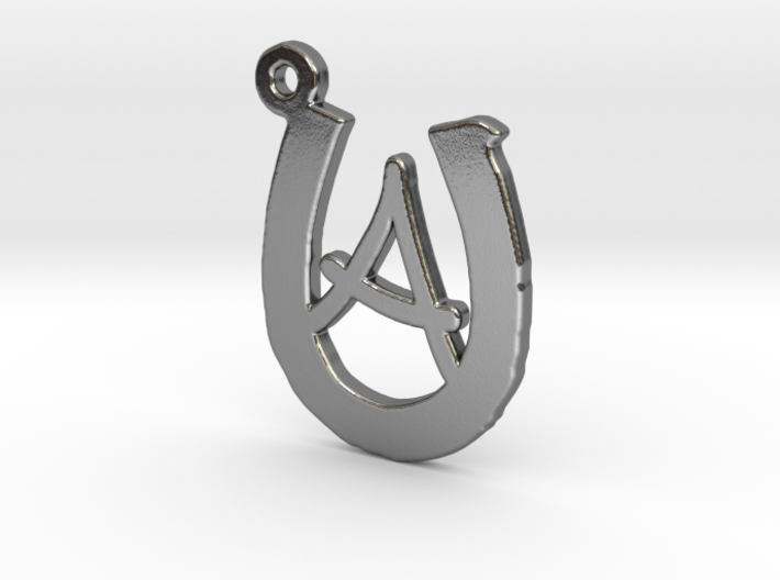 Horseshoe Monogram A 3d printed