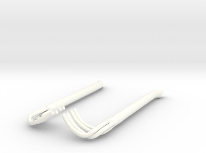 1/16 Racing Side Pipes 3d printed