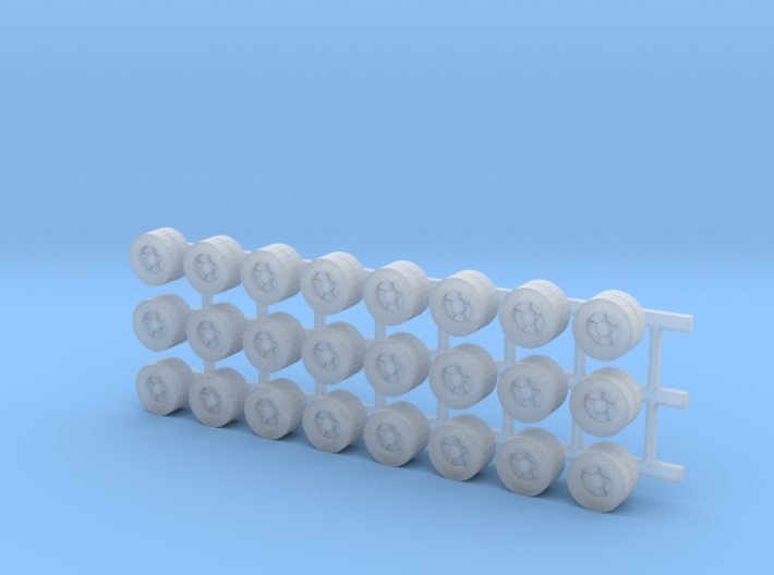 Tractor Trailer Wheels & Tires - 24 Pack 3d printed