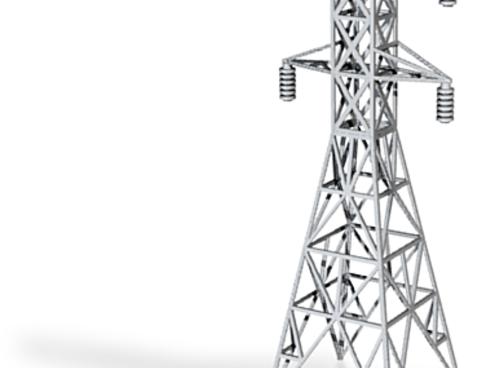 N scale transmission tower 3d printed