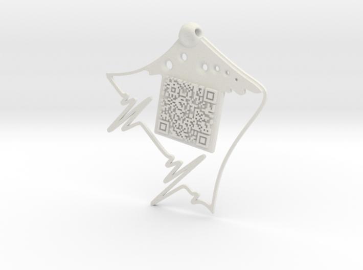 QR Pendant 3d printed