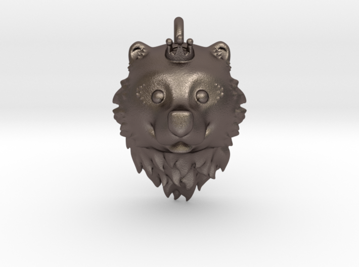Bear Queen Pendant 3d printed