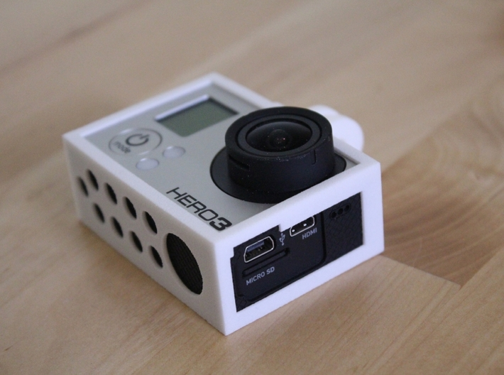 GoPro Hero3 & Hero4 - Frame'ish - d3wey 3d printed Unlike GoPro's the SD and HDMI can be accessed