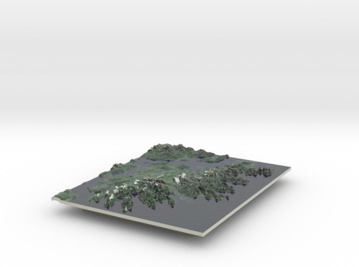 Senja Map, Norway 8x10 3d printed