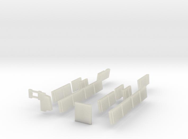 N Scale BART C Car Windows 3d printed