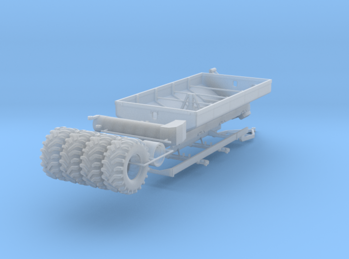 1/64 Grain Cart 2 axle with wheels and tires 3d printed