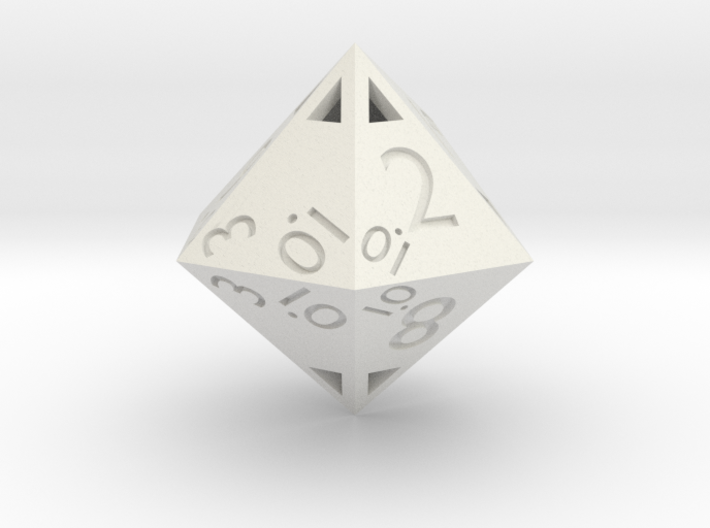 Sphericon-based d12: hollow 3d printed