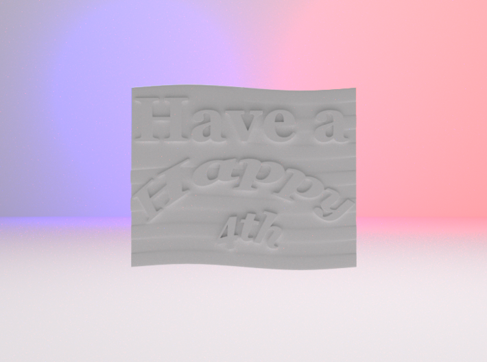 Have a Happy 4th Clip 3d printed This render is the front view of the clip. No material was added to this render