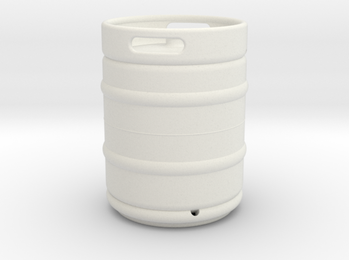 1/10 Scale Beer keg (standard) 3d printed