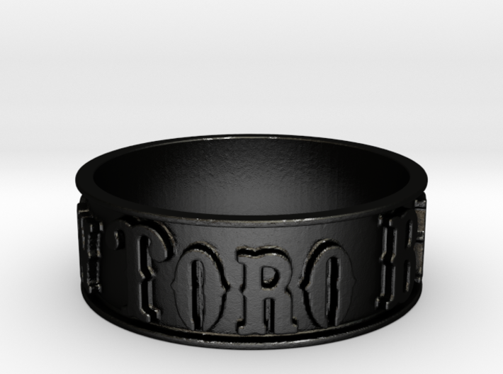 Mt. View Toro Band Ring (Size 7.5) 3d printed