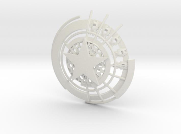 Captain America Shield: Prototype (10cm) 3d printed
