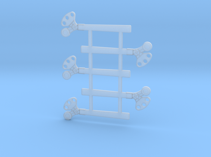 "HO Scale 3Pos. TO Semaphore Square 60"" 3d printed"
