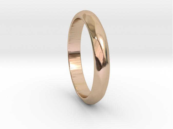 VESUVIO Ring 3d printed VESUVIO Ring in 14k Rose Gold Plated