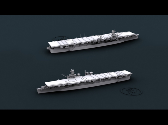 1/4800 WW2 US Navy Independence Class CVL (x5) 3d printed