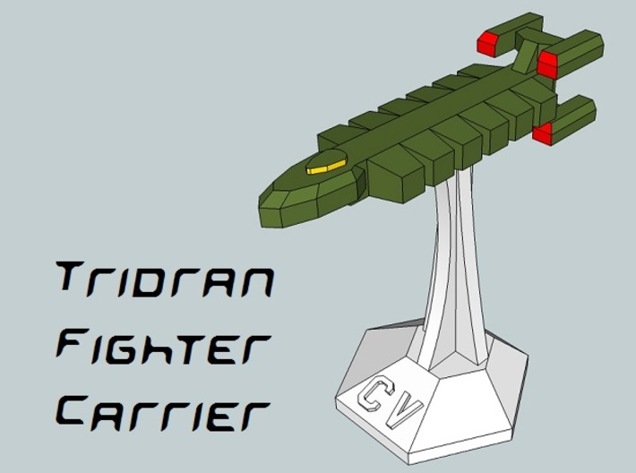 MicroFleet Tridran Carrier Group (21pcs) 3d printed