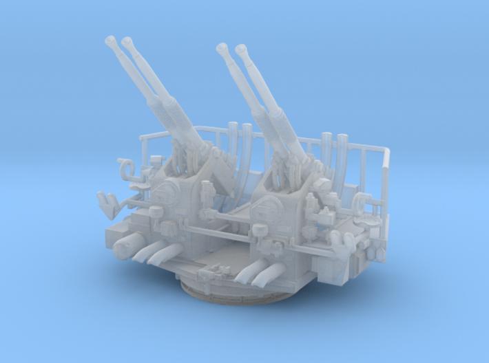 Quad Bofors Elevated 1/128 3d printed