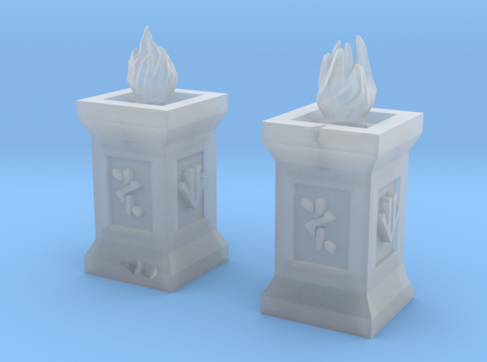 Dwarf Torches (Pair) 3d printed