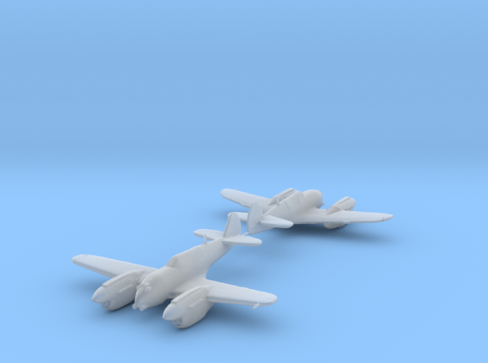 Curtiss P-40 Twin (Proposed) 1:200 x2 HDA 3d printed