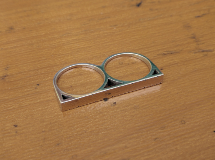 """1 1/2"""" Ruler Ring Size 8 3d printed"""