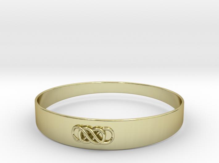 Double Infinity Bracelet ver.1 51mm inside 3d printed