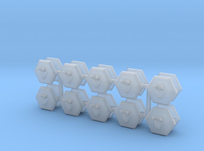 MicroFleet BSG Heavy Fighters (20pcs) 3d printed