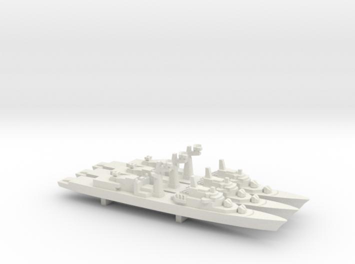 Tourville-class frigate x 3, 1/1800 3d printed
