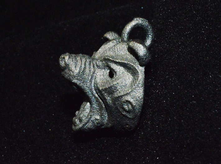 Grizly Bear Pendant 3d printed
